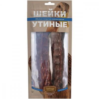 Деревенские Лакомства Шейки утиные лакомство для собак 90 гр