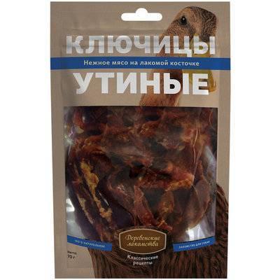 Деревенские Лакомства Ключицы утиные лакомство для собак 70 гр
