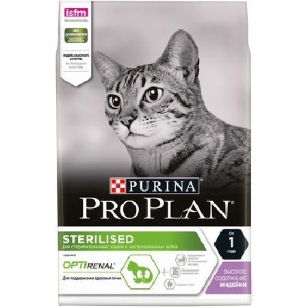 Pro Plan корм для взрослых стерилизованных кошек всех пород, индейка 7 кг