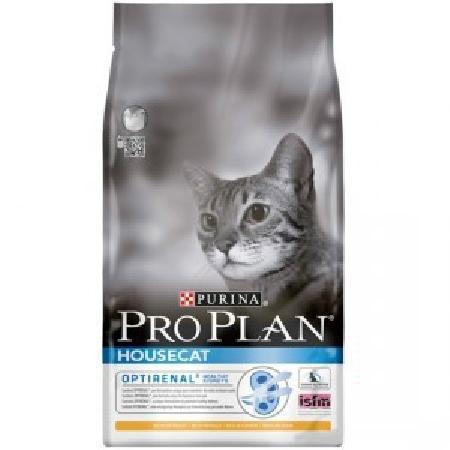 Pro Plan корм для взрослых кошек всех пород, живущих в помещении, курица 10 кг
