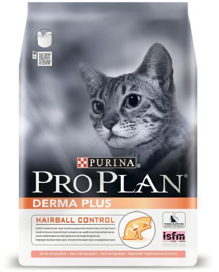Pro Plan корм для взрослых кошек всех пород, для поддержания красоты шерсти, лосось 10 кг