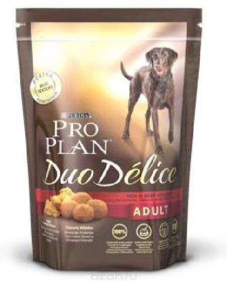 Pro Plan Duo Delice корм для взрослых собак средних и крупных пород, говядина 700 гр