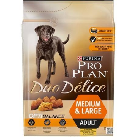 Pro Plan Duo Delice корм для взрослых собак средних и крупных пород, курица 700 гр