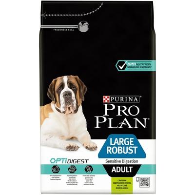 Pro Plan корм для крупных собак мощного телосложения с чувствительным пищеварением, ягненок 14 кг (12+2)