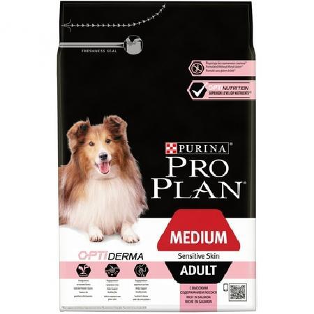 Purina Pro Plan Акция 12кг + 2кг в подарок Для взрослых собак с чувствительной кожей с лососем и рисом (Adult Sensitive) 12365652/12398184, 14,000 кг, 115280