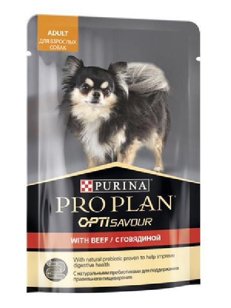 Purina Pro Plan ВИА см арт 53018 Паучи кусочки в соусе для взрослых Собак с говядиной 12384239, 0,100 кг, 37606