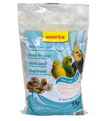 Benelux аксессуары Песок из ракушек для птиц, белый (White shell sand) 133, 2,000 кг, 50460