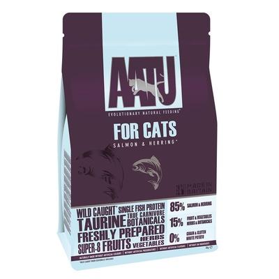 AATU корм для кошек беззерновой, с лососем, с сельдью 1 кг