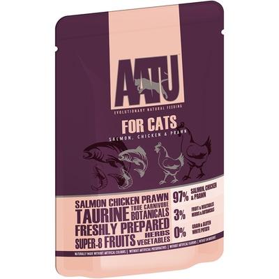AATU Консервы Паучи для кошек Лосось, Курица, Креветки (AATU FOR CATS SALMON, CHICKEN & PRAWN) WACFC85, 0,085 кг, 20892