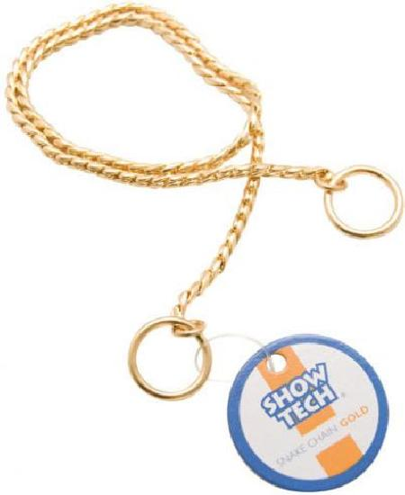 SHOW TECH металлическая шоу цепочка-кобра 65 см х 4 мм золотая, 96STE028