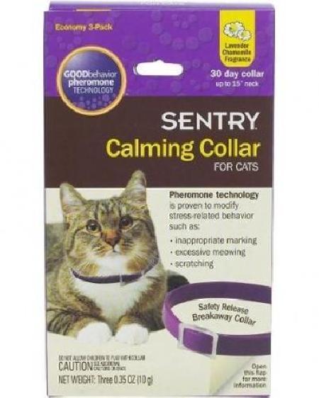 [182.002]  SENTRY Calming Collar Ошейник д/кошек успокаивающий с феромонами (уп-12шт)  02101/03815, 182.002, 2700100553