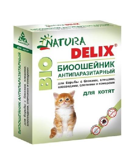 Бионикс Ошейник антипаразитарный Natura Delix BIO с алоэ-вера, для котят 115143, 0,009 кг, 54198, 3000100553