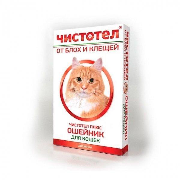Чистотел ошейник для кошек и собак всех пород от блох, клещей, вшей 35 см, 600100553