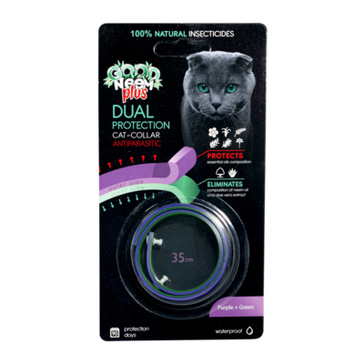Good Dog&Cat  Двухслойный БИОошейник для кошек и котят с маслом дерева ним, голубой+белый 35см FG04207, 0,020 кг, 22500100554
