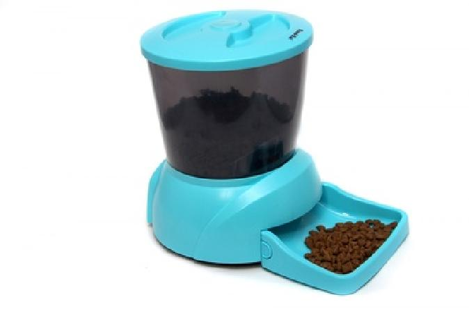 Feedex Автокормушка на 2 кг корма для кошек и мелких пород собак голубая PF7B, 1,900 кг, 14052.голуб