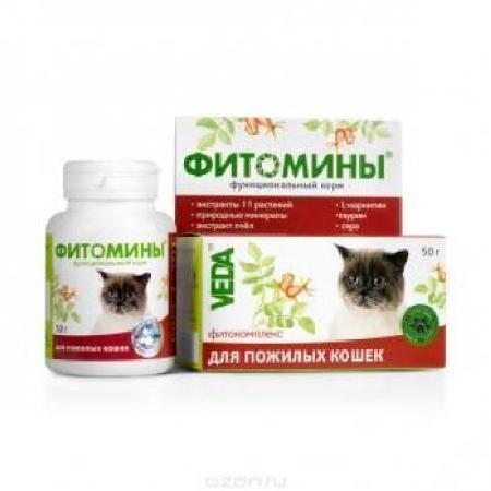 ФитоМины функц.корм для пожилых кошек, 100 табл. (30 упкор)