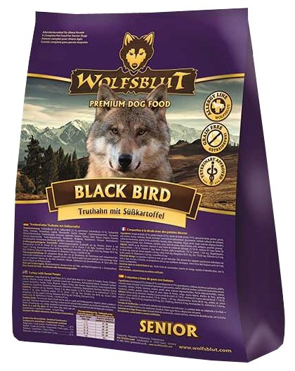 Wolfsblut Корм Black Bird Senior (Черная птица для пожилых собак) 2 кг, WBBBS2