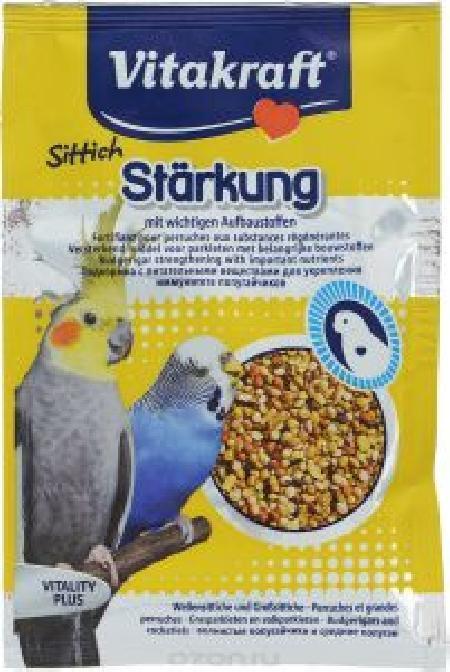 Vitakraft подкормка для волнистых попугаев, укрепление организма 30 г
