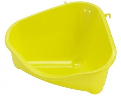 Pride Moderna Туалет в клетку для грызуна угловой средний лоток открытый зеленый 35x23,4x19 см