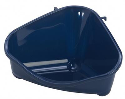Pride Moderna Туалет в клетку для грызуна угловой средний лоток открытый синий 35x23,4x19 см