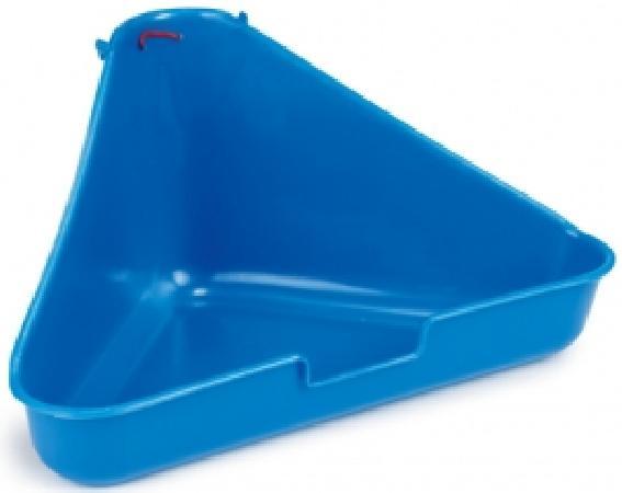 Beeztees 810898 Туалет дгрызунов угловой, голубой цвет 35*20*17см