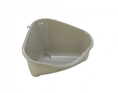 Moderna Туалет для грызунов pets corner угловой большой, 49х33х26, теплый серый (pets corner large) MOD-R300-330., 0,400 кг, 24698.сер2