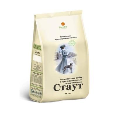 Стаут корм для взрослых собак всех пород, деликатное пищеварение 15 кг