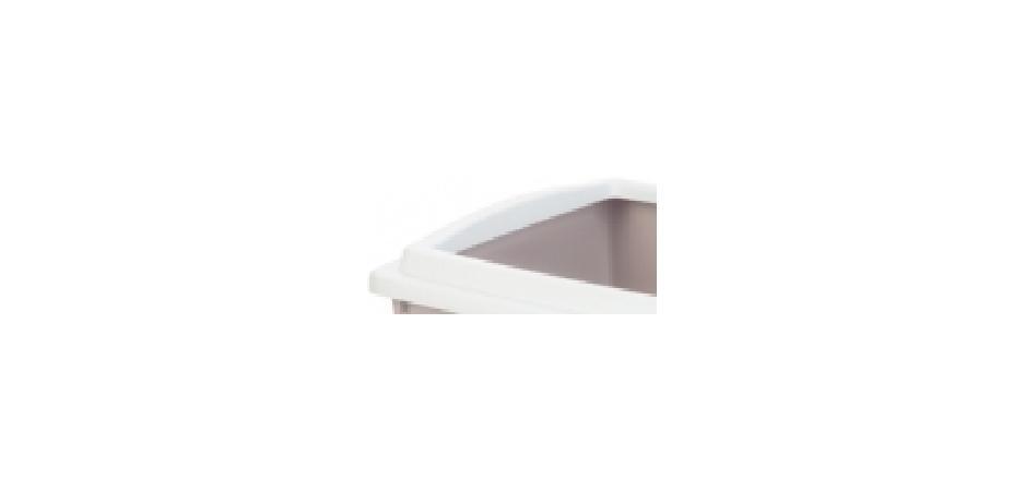 **Beeztees 400385 Туалет для кошек с бортиком светло-розовый 40*30*10см