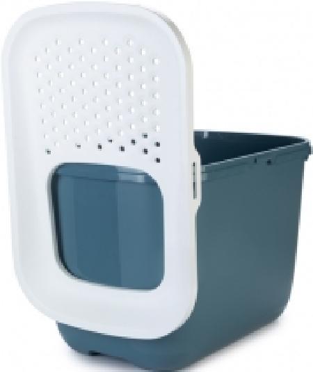 **Beeztees 400506 HOP IN Туалет закрытый дкошек со входом сверху, синий 58,5*39*39,5см
