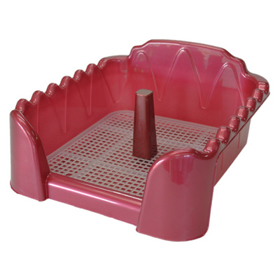 Homepet Туалет для собак красный перламутр cо столбиком (60см х 40см) 70084, 0,500 кг