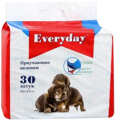 EVERYDAY Впитывающие пеленки для животных (гелевые) 30шт 60х60см 56494, 0,500 кг, 34100