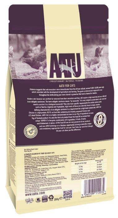 AATU корм для кошек беззерновой, с курицей 1 кг