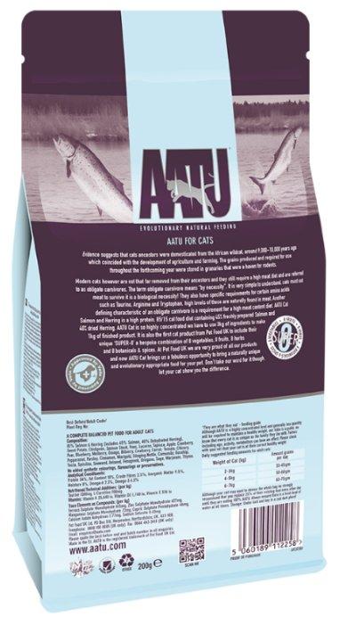 AATU ВИА Корм для кошек Лосось и Сельдь 85/15 (AATU CAT SALMON & HERRING) AFCAT200, 0,2 кг, 20889