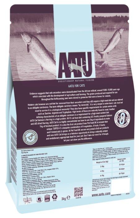 AATU Корм для кошек Лосось и Сельдь 85/15 (AATU CAT SALMON & HERRING) AFCAT3, 3 кг, 20891