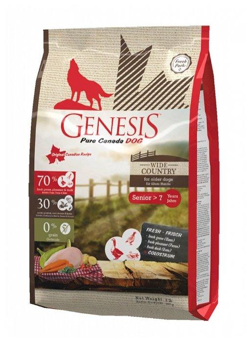 Genesis корм для пожилых собак всех пород, мясо гуся, фазана, утки и курицы 907 гр
