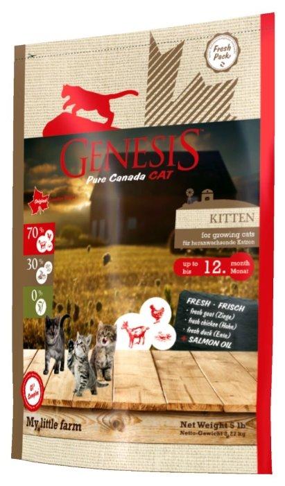 Genesis корм для котят всех пород, утка, коза и курица 2,268 кг