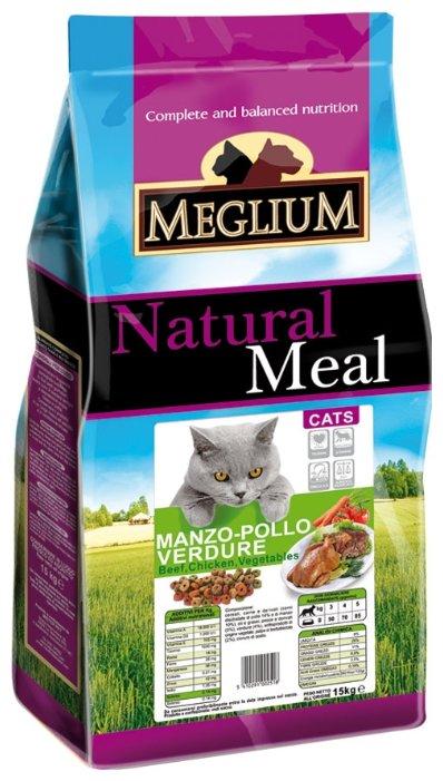 MEGLIUM ADULT Корм сух. 15 кг для кошек говядина курица овощи MGS0115, 64500