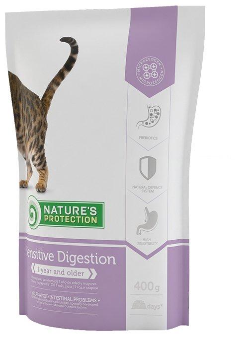 Nature's Protection влажный корм для взрослых кошек, чувствительное пищеварение, индейка и ягненок 400 гр