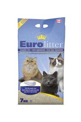 Eurolitter Комкующийся наполнитель Контроль запаха, без пыли (Dust Free) аромат детской присыпки, 15,000 кг