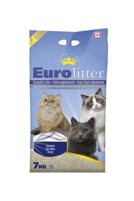 Eurolitter Комкующийся наполнитель Контроль запаха, без пыли (Dust Free) без запаха, 15,000 кг