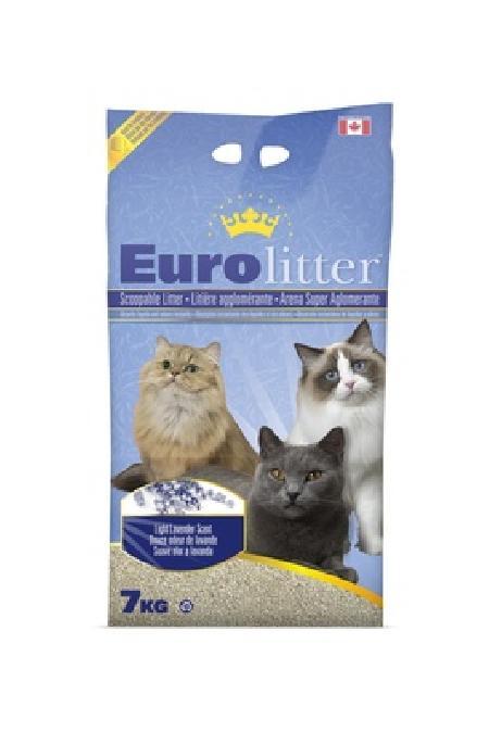 Eurolitter Комкующийся наполнитель Контроль запаха, без пыли (Dust Free) Лаванда, 7,000 кг