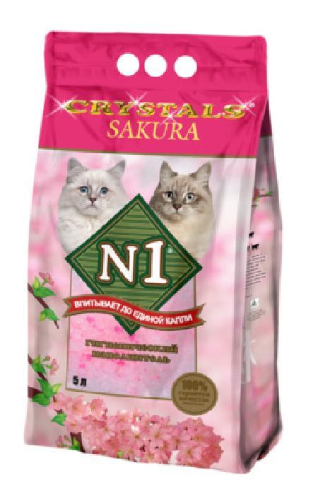 N1 Crystals Sakura наполнитель силикагель 5 л