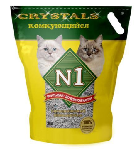 N1 комкующийся наполнитель для кошек 10 л