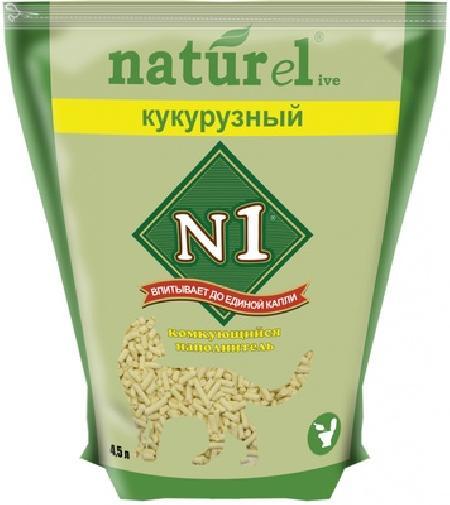№1Naturel кукурузный Наполнитель комкующийся 17,5л АКЦИЯ 15проц.