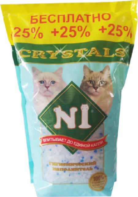 N1 Crystals силикагелевый наполнитель, синий 12,5 л