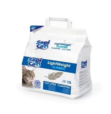 SEPICAT Облегченный комкующийся наполнитель классический Натуральный, 10л (LightWeight Classic 10L Natural) 9H015H51, 6,000 кг, 20745