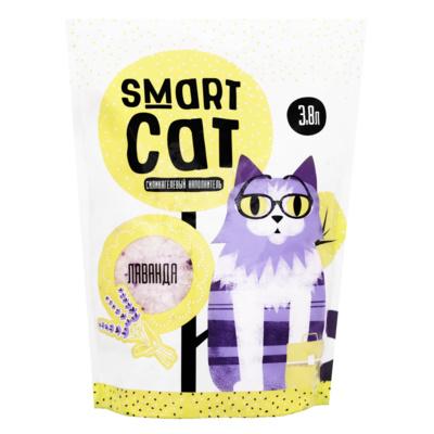 Smart Cat наполнитель Силикагелевый наполнитель с ароматом лаванды, 3,8л, 1,660 кг, 24575
