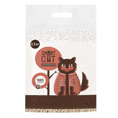 Smart Cat наполнитель Древесный наполнитель, пеллета 6мм, 59ин15, 2,500 кг, 42145