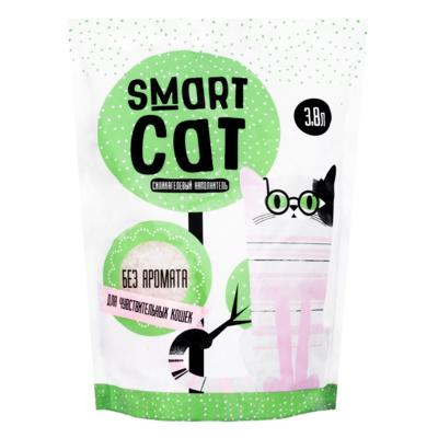 Smart Cat наполнитель Силикагелевый наполнитель для чувствительных кошек (без аромата), 7,6л, 3,320 кг, 24571