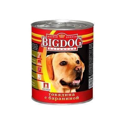 Зоогурман Big Dog влажный корм для взрослых собак средних и крупных пород, говядина и баранина 850 гр